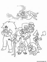 Steven Universe Coloring Pages Cartoon Characters Printable Sheets Adult Gems Crystal Books Steve Colouring Peridot Garnet Lapis Ruby Pearl Sapphire sketch template