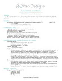 event planner resume objective wedding planner wedding planner resume