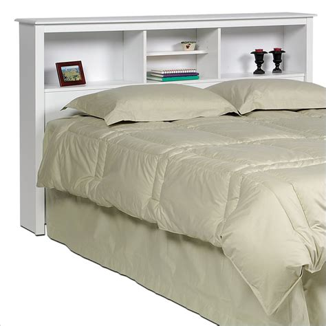 Storage Beds With Bookcase Headboard by Edenvale Monterey Double Full Queen Size White Bookcase