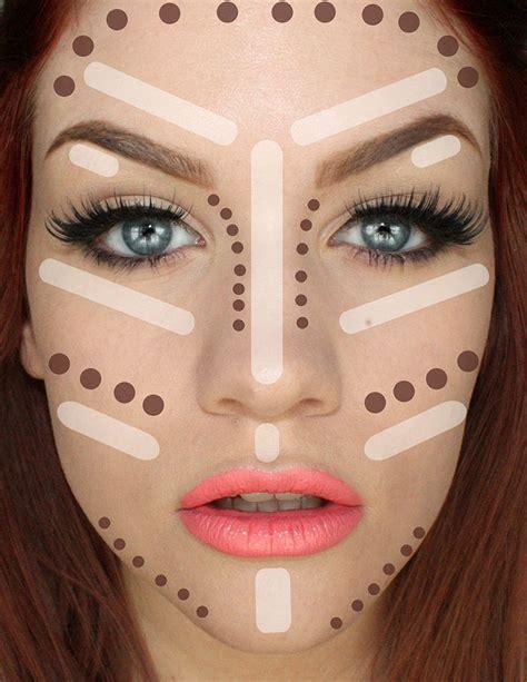 contouring  highlighting  face  makeup  trendy girls