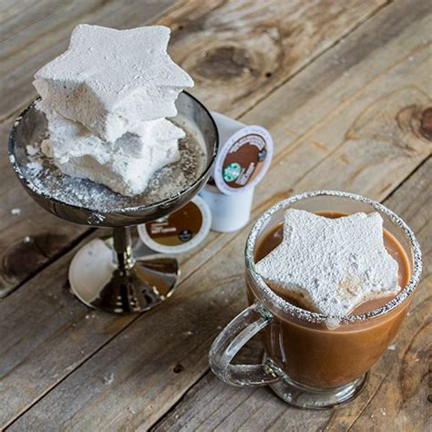 Soak 4 envelopes of gelatin in 1 cup of cold water. Starbucks® Make your own marshmallows recipe | Recipes with marshmallows, Homemade marshmallows ...