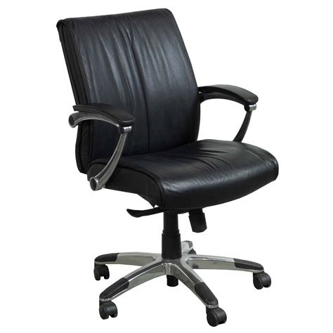 used leather conference chair black national office
