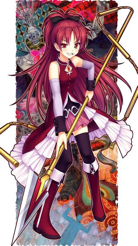 kyoko sakura puella magi madoka magica anime mobile