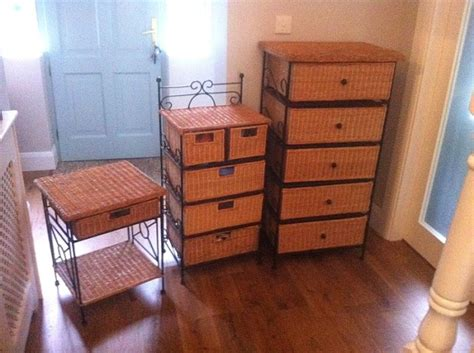 Wicker Furniture 3 Piece Set Tallboy Chest Of Drawers End Tablebed Side Locker For Sale In Drawer Pulls 6 Inch Center To Slide Spacers Paper Chest Of Drawers How Clean Antique Brass Plastic Storage With Shelves Shoe Holds 27 Pairs Seville Classics 10 Organizer
