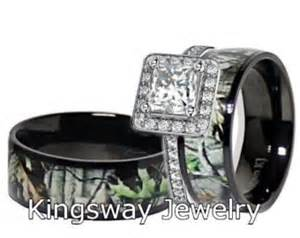camo wedding ring sets for him and camo wedding ring set for him and titanium stainless