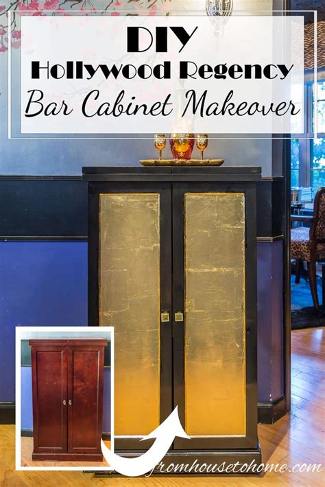 Home Bar Makeover by Diy Regency Bar Cabinet Makeover