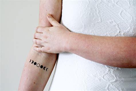 set   moon phase temporary tattoos moon temporary