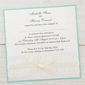 embroidered lace layered square pure invitation wedding With lace wedding invitations cheap uk