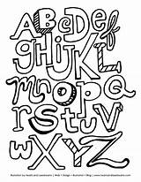 Coloring Letters Abc Alphabet Printable Pages Printables sketch template