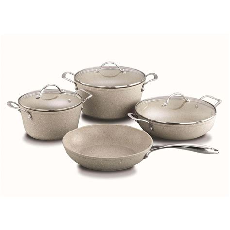 pcs top rated forged aluminum healthy marble cookware set dishwasher safe