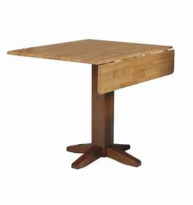 [36 Inch] Square Dropleaf Dining Table - Bare Wood Fine