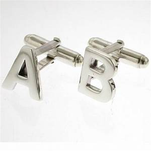 sterling silver alphabet initial cufflinks by david louis With sterling silver letter cufflinks