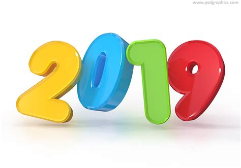 New Year 2019 3d Background