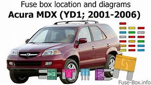 Fuse Box Location And Diagrams  Acura Mdx  Yd1  2001