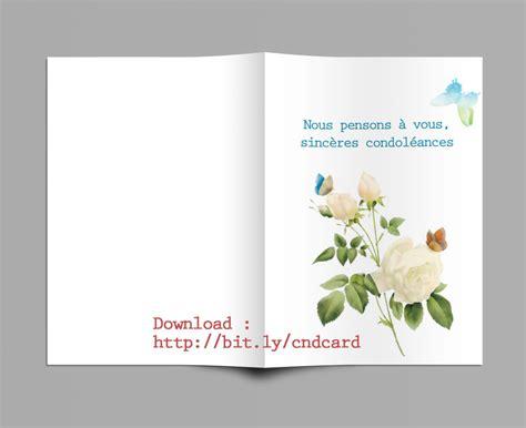 modèle carte de condoléances mod 232 le carte de condoleances a imprimer gratuit