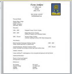 bad resume exles sle bad resume template design