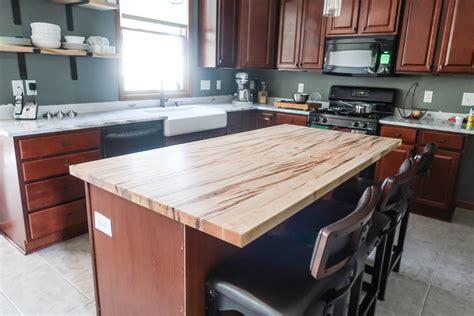 diy brick kitchen island   scenes