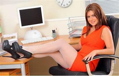 Kelly Hall Wallpapers Secretary Office Legs Stockings