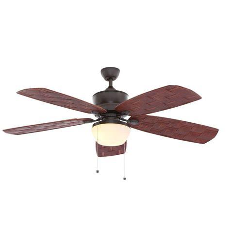 Hton Bay Ceiling Fan Wicker Blades by Hton Bay Rocio 60 In Iron Indoor Outdoor