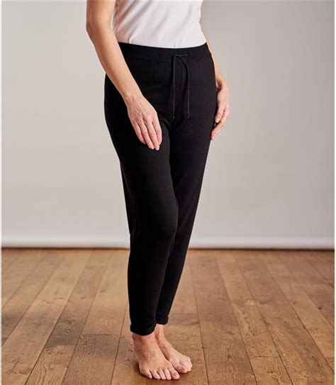 black womens cashmere cotton relaxed joggers woolovers au