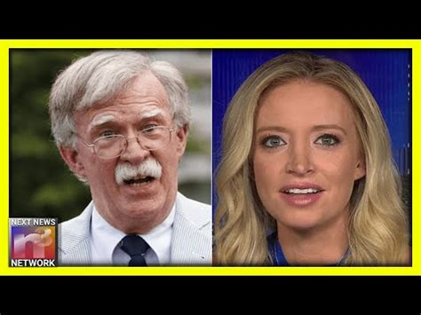 New WH Press Sec. Goes OFF on John Bolton With BRUTAL ...