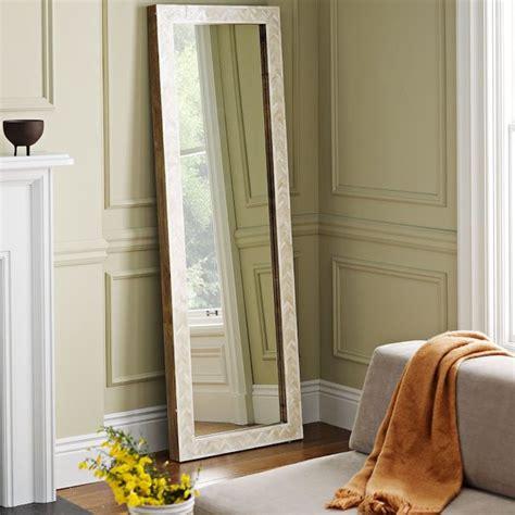 floor mirror west elm parsons floor mirror bone inlay contemporary floor mirrors by west elm