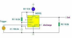 Ne555 Basic Monostable Circuit Diagram And Instructions