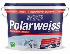 Schöner Wohnen Polarweiss : sch ner wohnen innenfarbe polarweiss 10 l aktion ~ Watch28wear.com Haus und Dekorationen