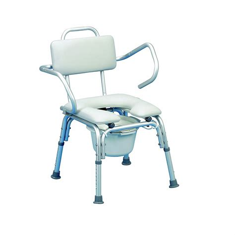 lightweight padded shower chair with cut out shower seat