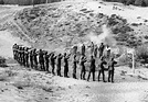 WWII --- German firing squad executing Russian partisans ...