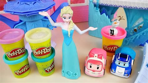 Play Doh Frozen Elsa Robocar Poli Car And Baby Doll Ref