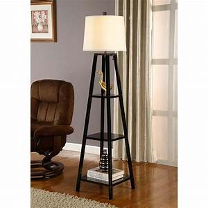 Total fab modern and contemporary floor lamps with shelves for Floor lamp with 3 shelves