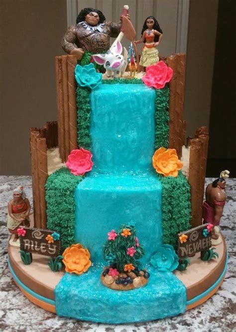 buttercream moana cake     sons  birthday