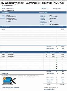 Free Catering Invoice Template Computer Repair Invoice Template Pdf Printable Receipt