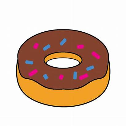 Clipart Doughnut Cartoon Fast Animated Snack Transparent