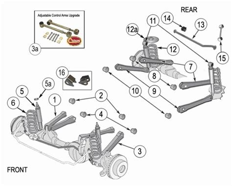 Jeep Exploded Diagram by Jeep Wrangler Tj Suspension Parts Exploded View Diagram
