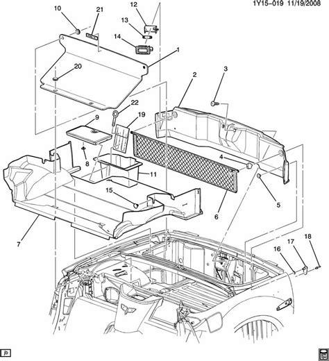 05 Corvette Part Diagram by 2005 13 Chevy Corvette C6 Rear End Trunk Panel Convertible
