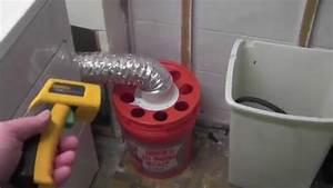 Vent Gas Dryer Indoors