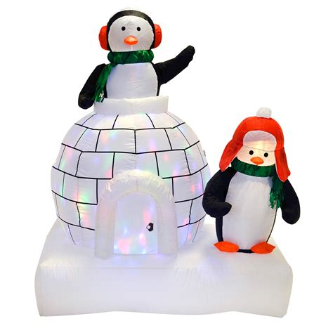 light up penguin christmas decoration penguins and igloo decoration garden outdoor disco lights ebay