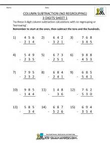 3 digit addition and subtraction subtraction without regrouping worksheets for grade 4 word problems worksheets dynamically