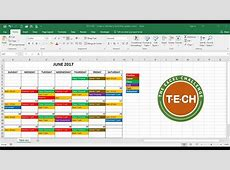 TECH011 Create a calendar in Excel that automatically