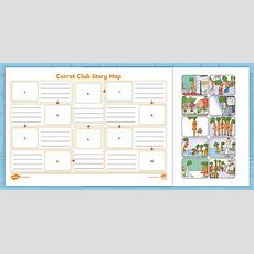 * New * Carrot Club Story Map  Originals, Fiction, Ks1, Healthy Eating Week