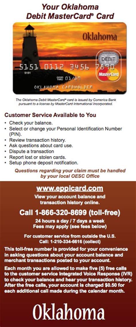 oklahoma debit card  cards