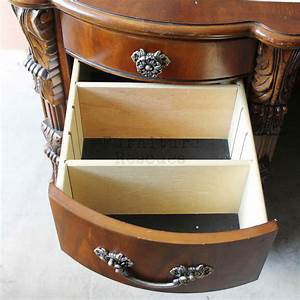 Fancy, Computer, Desk, With, Locked, Drawers