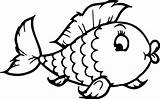Fish Template Colouring Coloring sketch template