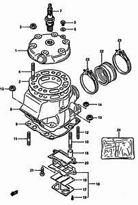 Cylinder For 1985 Suzuki Rm125