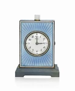 A, Blue, Enamel, Minute, Repeater, Desk, Clock, By, Cartier