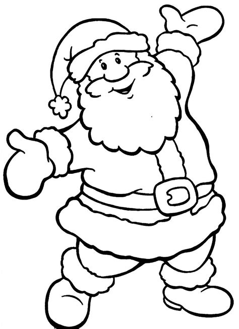 coloring pages of santa claus dark brown hairs