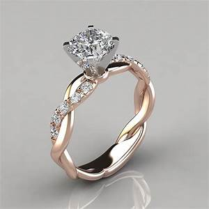 twist cushion cut engagement ring puregemsjewels With man made wedding rings