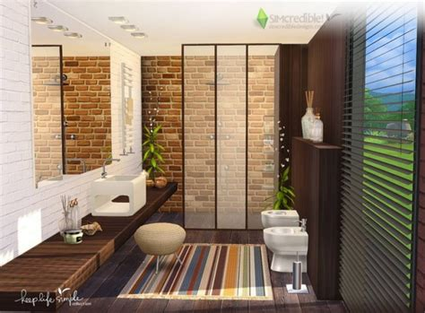 life simple bathroom  simcredible designs  sims
